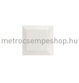 EQUIPE 7.5x7.5 fehér fózolt kiskocka metrocsempe