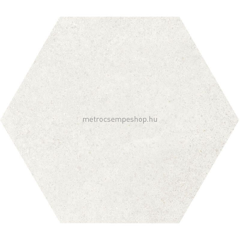 """HEXATILE CEMENT -White """"L"""" cementhatású fagyálló hexagon padlólap"""