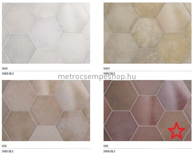 EQUIPE HERITAGE WINE hexagon padlólap