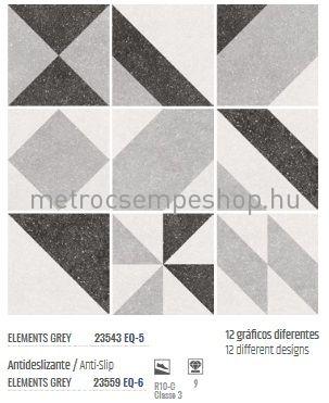matt R9 20*20 EQUIPE MICRO Elements Grey csúszásmentes PADLÓLAP