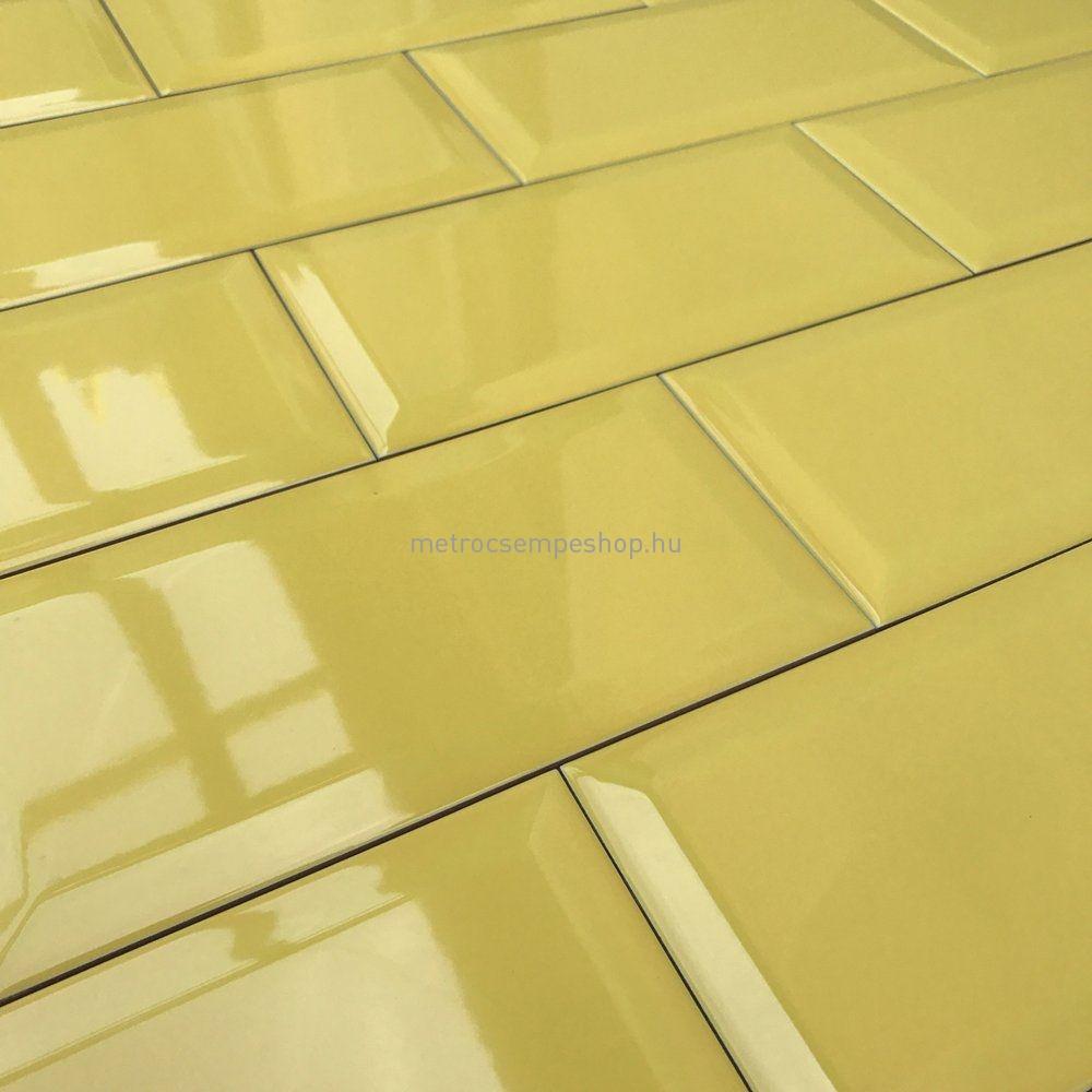 10x20 SOL Sárga fózolt metro csempe