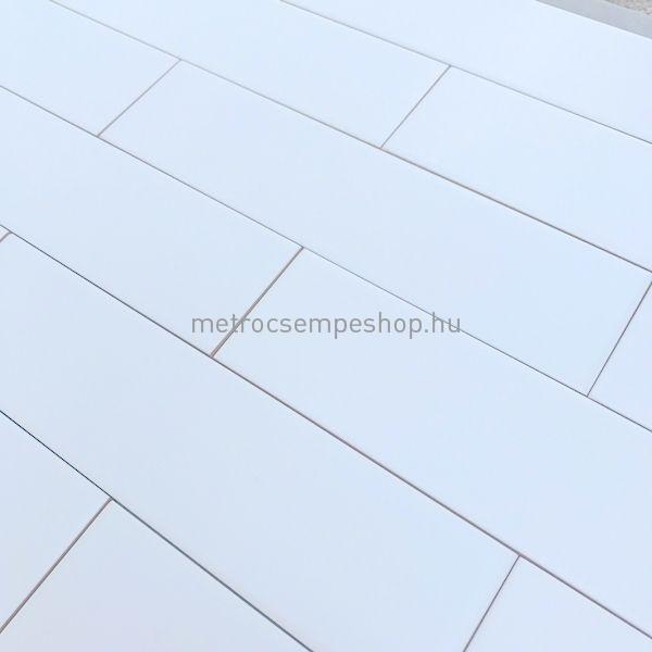 7,5x30 MATT fehér sima csempe